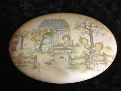 1970s Rare BETSY CLARK wall plaque 9 x 7 oval LARGE WALL HANGING NICE! | eBay