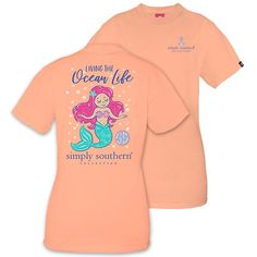33991a460b Simply Southern Preppy Ocean Life Mermaid T-Shirt Available in sizes- Adult  S,