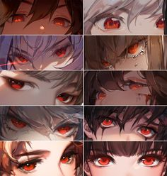 """Drawing Eyes Expression Red Collection - """"When you have eye-color fetish, but you do the meme anyway. Digital Art Tutorial, Digital Painting Tutorials, Art Tutorials, Drawing Tutorials, Concept Art Tutorial, Realistic Eye Drawing, Manga Drawing, Drawing Tips, Figure Drawing"""