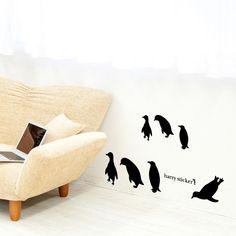 wallsticker penguin Wallpaper interior Design
