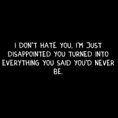 disappointed...