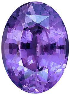 Genuine Purple Sapphire Loose Gemstone, Purple Violet Color, Oval Cut, 9.6 x 7.3 mm, 2.76 Carats at BitCoin Gems