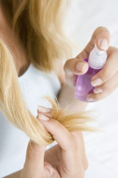 tips to repair split ends-easy homemade treatments for split ends. Soooo helpful