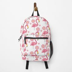 Pink Flamingo Party, Pink Flamingos, Fashion Room, Vintage Designs, Fashion Backpack, Traveling By Yourself, Print Design, Backpacks, Printed