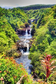 Umauma Falls Big Island of Hawaii. more with healing sounds: Hawaii Vacation, Hawaii Travel, Dream Vacations, Vacation Spots, Beautiful Islands, Beautiful Places, Places To Travel, Places To Visit, Visit Hawaii