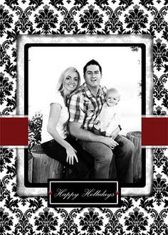 damask and regal! I love this photo Christmas card design from The Cutest Blog on the Block.