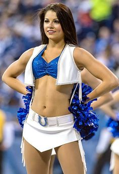 Indianapolis Colts Cheerleaders - I want to be one for Halloween. Colts Cheerleaders, Nfl Colts, Hottest Nfl Cheerleaders, Denver Broncos, Pittsburgh Steelers, Dallas Cowboys, Professional Cheerleaders, Cheerleading Outfits, College Cheerleading
