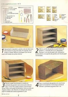 Artesanato e Cia : Mini gaveteiro - cartonagem - passo a passo