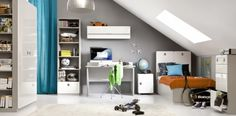Modern Kids Room in High Gloss White. See More At http://funique.co.uk