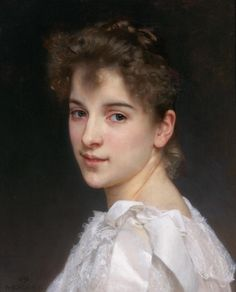 William Adolphe Bouguereau Portrait of Gabrielle Cot print for sale. Shop for William Adolphe Bouguereau Portrait of Gabrielle Cot painting and frame at discount price, ships in 24 hours. William Adolphe Bouguereau, Pierre Auguste Cot, French Artists, Portrait Art, Woman Portrait, Portrait Paintings, Figure Painting, Oeuvre D'art, Art History