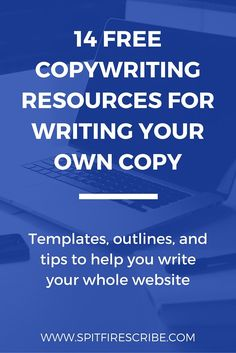 14 Free Copywriting Resources for Writing Your Own Copy | Get copywriting templates, outlines, and tips to help you write your whole website! Pin this so you can easily find it next time you're writing for your business! via /spitfirescribe/