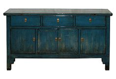 Shandong Blue Buffet on OneKingsLane.com  I love the color and style of this piece.