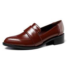 694b9c2d Tienda Online EAGSITY marca de zapatos de cuero de las mujeres de tacón  punta estrecha en