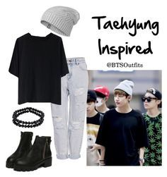 """""""Taehyung Inspired Outfit"""" by btsoutfits ❤ liked on Polyvore featuring Pull&Bear, Chicwish, Icebreaker and 1928"""