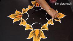 Simple Rangoli Designs by Jayanthi Diwali Special Rangoli Design, Simple Rangoli, Rangoli Designs, Dots, Color, Stitches, Colour, The Dot, Colors
