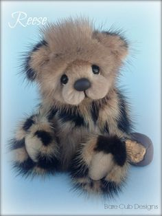 Reese mink bear by Helen Gleeson of Bare Cub Designs: Peanut Butter and Chocolate the perfect pair!