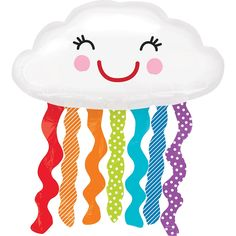 Rainbow Cloud Balloon 34in x 36in | Party City