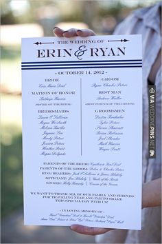 wedding program ideas | VIA #WEDDINGPINS.NET