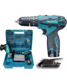 MAKITA - HP330DX100 Κρουστικό Δραπανοκατσάβιδο Μπαταρίας (2x1.3Ah) με 74 Εξαρτήματα ΚΩΔΙΚΟΣ: HP330DX100 Drill, Tools, Hole Punch, Instruments, Drills, Drill Press