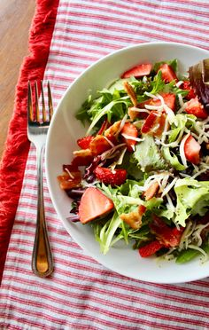 Strawberry Spinach Salad with Mustard Poppy Seed Vinaigrette