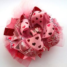 Valentine's Day Pink And Red Boutique by JustinesBoutiqueBows