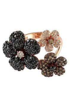 Confetti 3 Flower Diamond Ring - 2.47 ctw on HauteLook