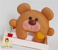 Olá pessoal, como está o feriado?? Vamos aproveitar a folga e fazer arte? Olha só este ursinho lindo do blog Sonhos de Mel ... Fofinho, fac...