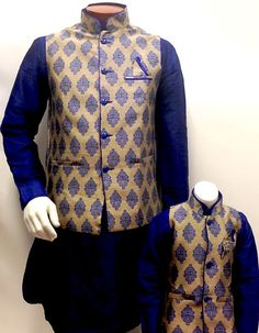 Buy Father Son Indian designers collection for parties Indian Groom Wear, Indian Ethnic Wear, Dad Son, Father And Son, Bollywood Style, Bollywood Fashion, Baby Boy Fashion, Kids Fashion, Kids Party Wear