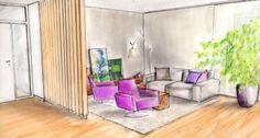 Entwurf Wohnzimmerecke