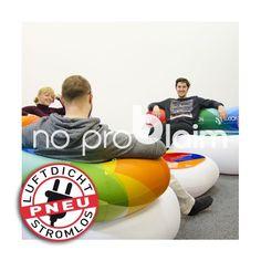 aufblasbare Messemöbel / Eventmöbel - Branding durch 4c Druck möglich - kleines Packmaß für Transport und Lagerung.  www.noproblaim.at