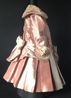 Antique reproduction lined Silk doll dress by DollCoutureBoutique. On Etsy.