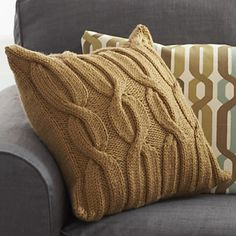 Ravelry: Cable Vine Cushion pattern by Bernat Design Studio