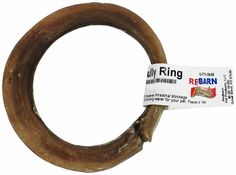 Redbarn Bully Rings are delicious bully chews for dog, shaped in a fun circle and produced with high quality standards.  Redbarn bulls are free range and fed a natural, healthy grass diet. In the Redbarn Processing Plant, strict quality control standards are enforced to insure your dog receives a high grade treat that he'll love!