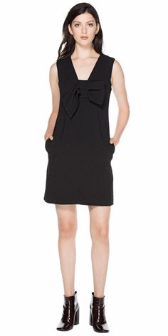 CUE - Crepe Bow Detail Dress