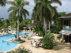 Pool Area, Couples Negril, Jamaica Plan your #WinterEscape in #Bluefields #Jamaica at www.lunaseainn.com