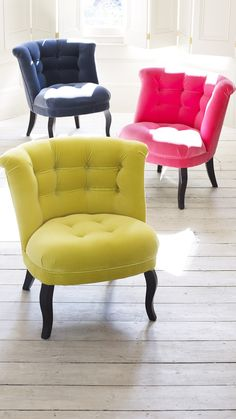 Transform your everyday interior with our velvet furniture, available in a rainbow of shades.