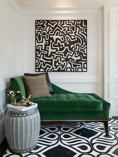 emerald green chaise
