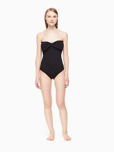 b61e36072c Kate Spade Georgica beach bandeau one-piece swimsuit  Georgica Spade Kate  Scalloped