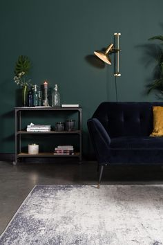 How to make a dark room brighter: 12 ideas to lighten your spaces Dark green north-facing living room Living Room Green, Living Room Windows, Living Room Colors, Living Room Designs, Living Room Decor, White Floorboards, Cosy Room, Living Room Storage, Living Room Flooring