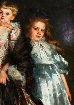 Thérèse Schwartze. Detail from Portrait of Mrs Van...