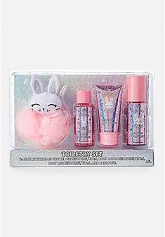 Justice For Girls Bunny Bath Cosmetic Gift Set Gel Lotion Mist Loofah Makeup Kit For Kids, Kids Makeup, Cheap Makeup, Face Makeup, Justice Makeup, Justice Accessories, Clothing Accessories, Unicorn Fashion, Nails For Kids