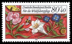 Art - Stamp Art - German - Flower - (1) by Vintageprintable1, via Flickr