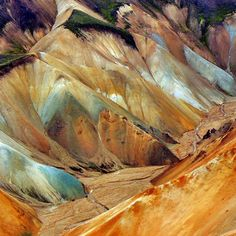 Landmannalaugar in the interior...could be a painting