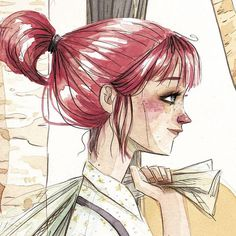 Risultati immagini per Esther Gili Painting Of Girl, Painting & Drawing, Cartoon Drawings, Cool Drawings, Kawaii, Portrait Inspiration, Doodle Art, Love Art, Art Photography