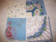 Handkerchiefs  Vintage by aPrairiePeddler on Etsy