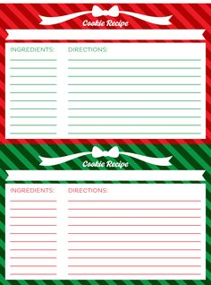 Holiday Egg Nog Recipe Card Template - Free Download | Christmas ...