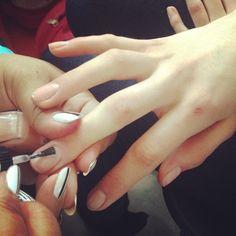 Nails at Erdem. Love this natural look