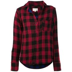 RAG & BONE buffalo check shirt ($385) ❤ liked on Polyvore featuring tops, shirts, flannels, blouses, long sleeve plaid shirts, collared shirt, plaid shirt, buffalo check flannel shirt and buffalo plaid shirt