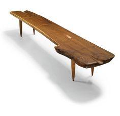Philip Lloyd Powell; Walnut Bench, c1960.