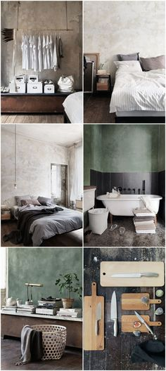 I love this home! Beautiful Interior Design, Beautiful Interiors, Interior Styling, Interior Decorating, Green Wall Color, Cool Apartments, Apartment Interior, Interior Inspiration, Interior Architecture